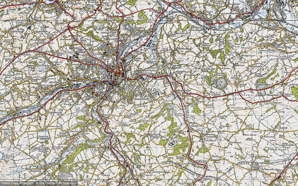 Old Map of Almondbury, 1947 in 1947
