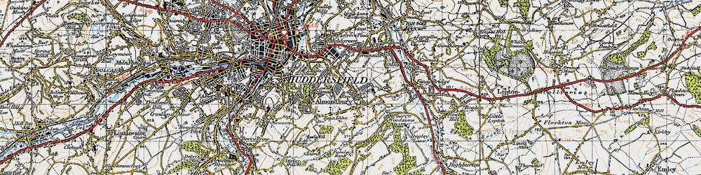 Old map of Almondbury in 1947