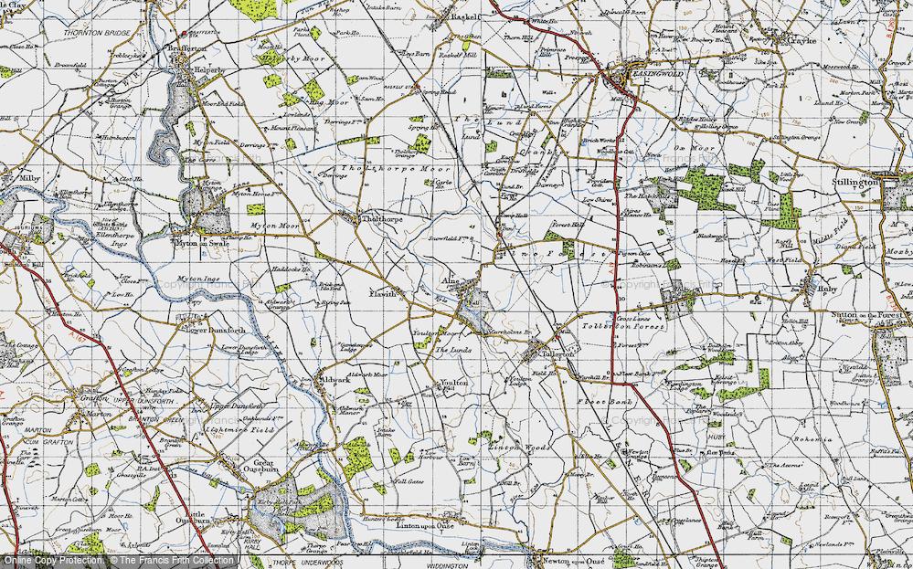 Old Map of Alne, 1947 in 1947