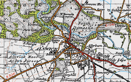 Old map of Abbeylands in 1947