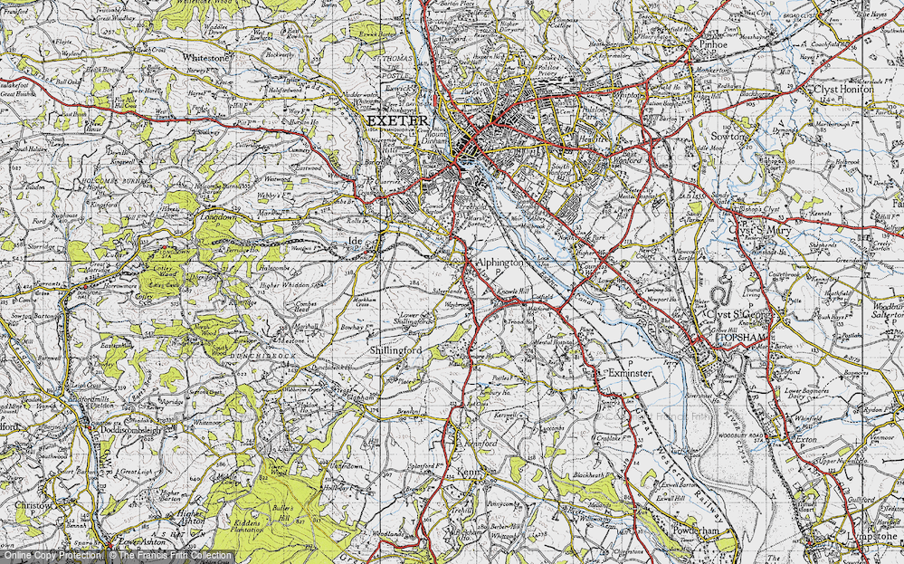 Old Map of Alphington, 1946 in 1946