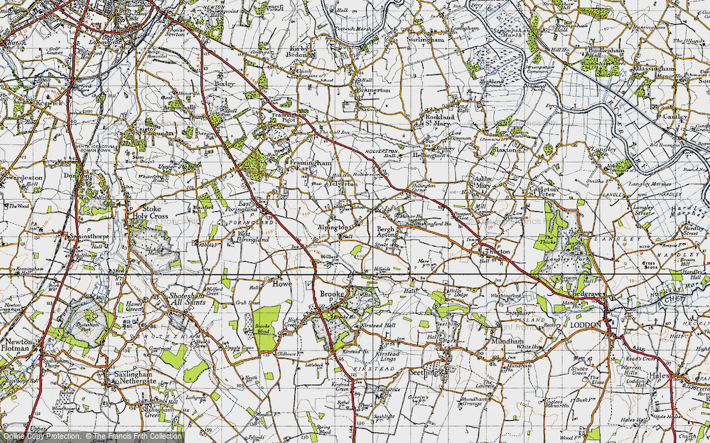 Old Map of Alpington, 1946 in 1946