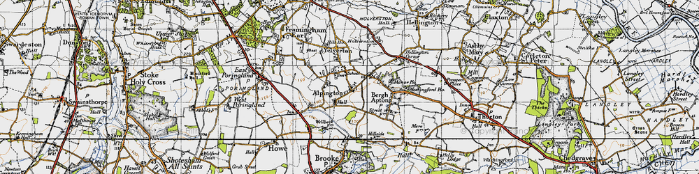 Old map of Alpington in 1946