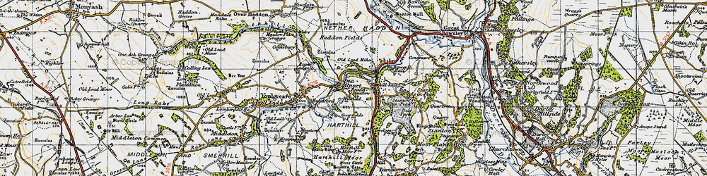 Old map of Alport in 1947