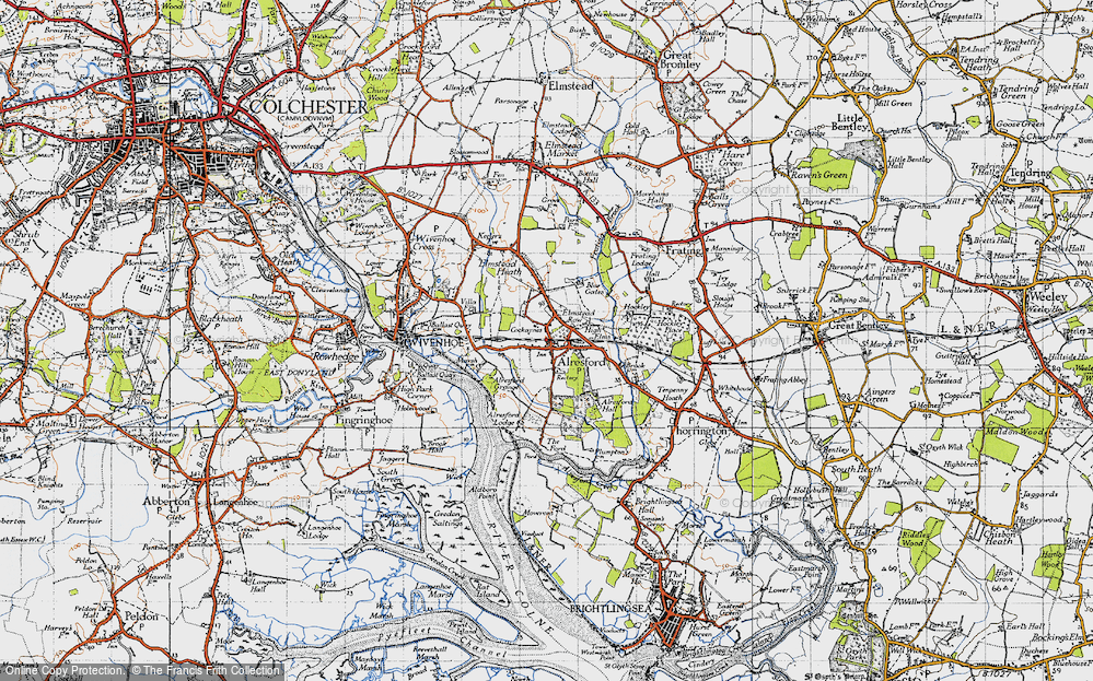 Old Map of Alresford, 1945 in 1945