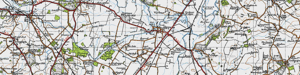 Old map of Alrewas in 1946