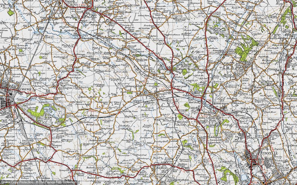 Old Map of Alsager, 1947 in 1947