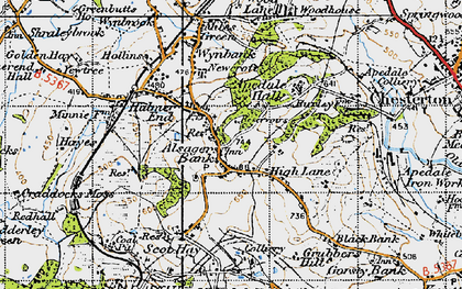 Old map of Alsagers Bank in 1946