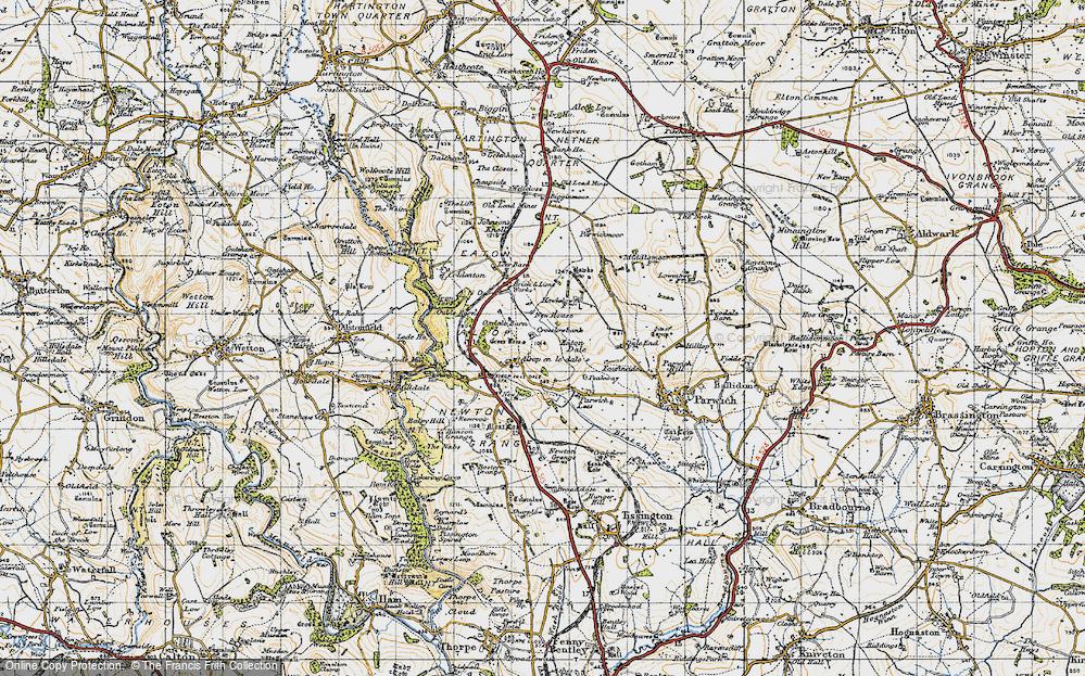 Old Map of Alsop en le Dale, 1947 in 1947