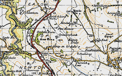 Old map of Tissington Trail in 1947