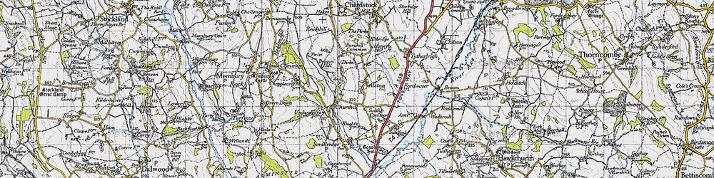 Old map of Alston in 1945