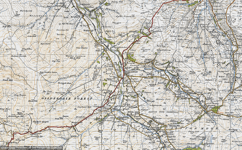 Old Map of Historic Map covering Bankfoot in 1947
