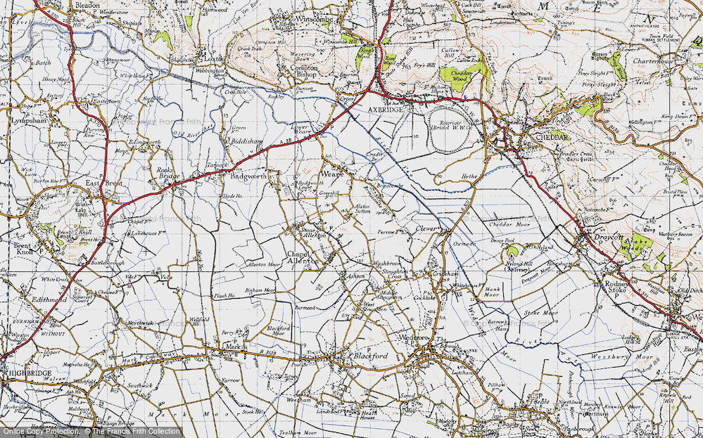Old Map of Alston Sutton, 1946 in 1946