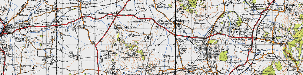 Old map of Alstone in 1946