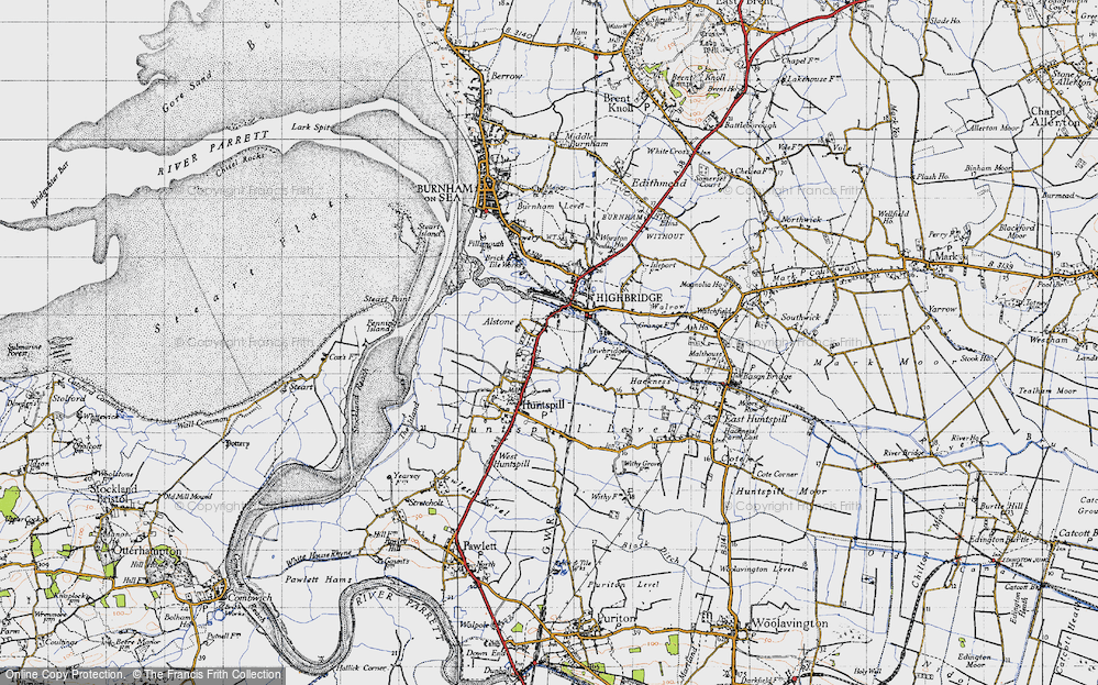 Old Map of Alstone, 1946 in 1946