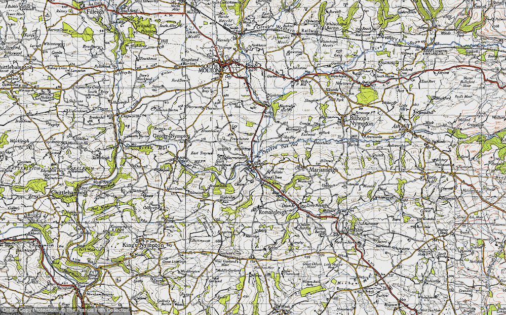 Old Map of Alswear, 1946 in 1946
