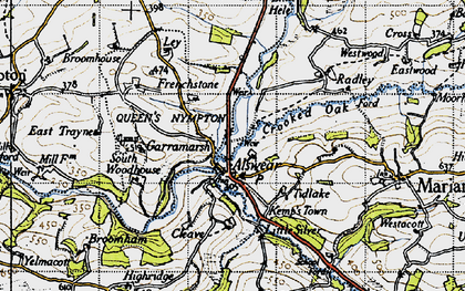 Old map of Alswear in 1946