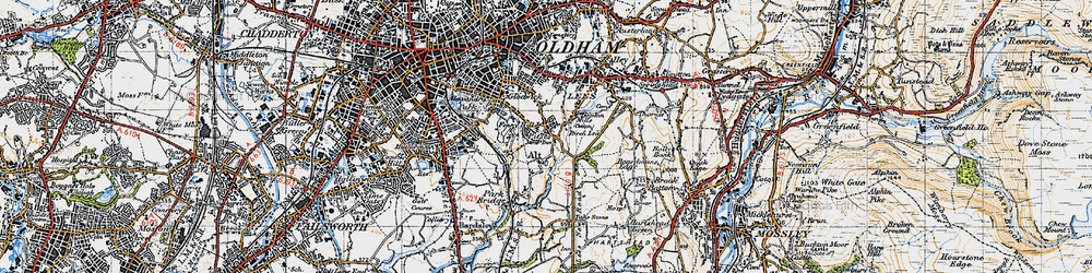 Old map of Alt in 1947