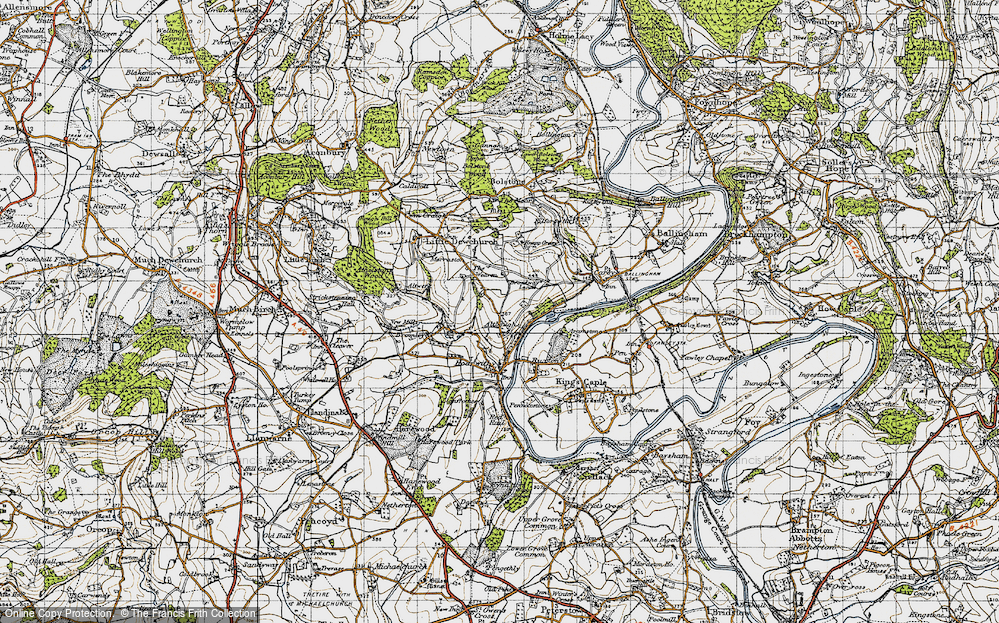 Old Map of Altbough, 1947 in 1947