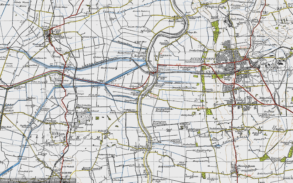 Old Map of Althorpe, 1947 in 1947