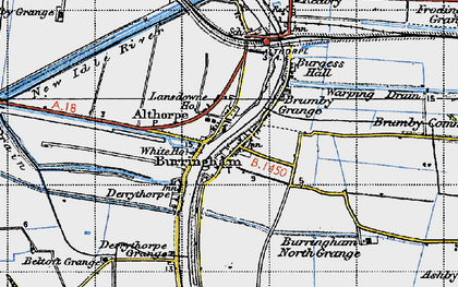 Old map of Althorpe Sta in 1947
