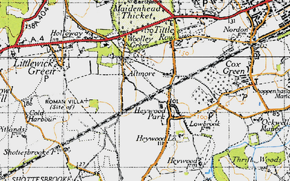 Old map of Altmore in 1947
