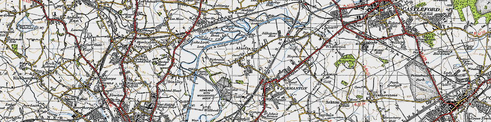 Old map of Altofts in 1947