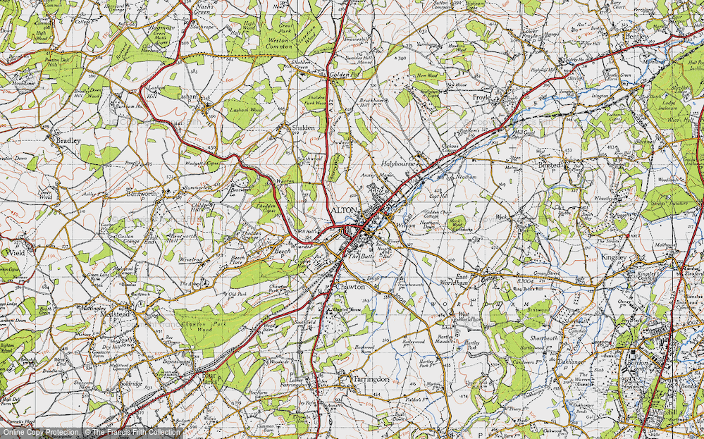 Old Map of Alton, 1940 in 1940