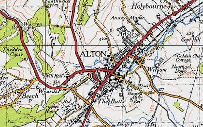 Old map of Alton in 1940