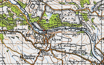 Old map of Alton Towers in 1946