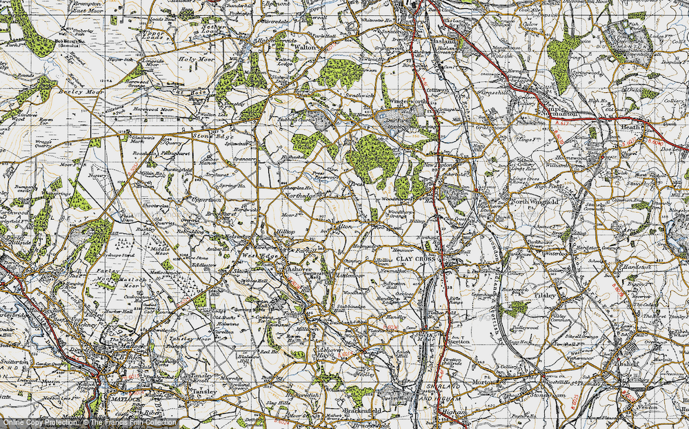 Old Map of Alton, 1947 in 1947