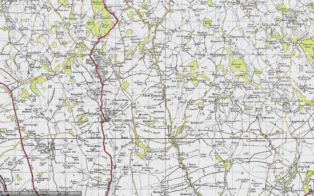 Old Map of Alton Pancras, 1945 in 1945