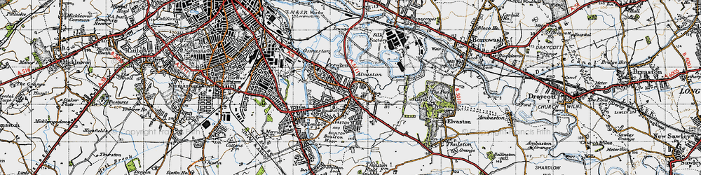 Old map of Alvaston in 1946