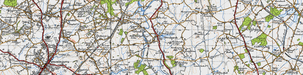 Old map of Alvechurch in 1947