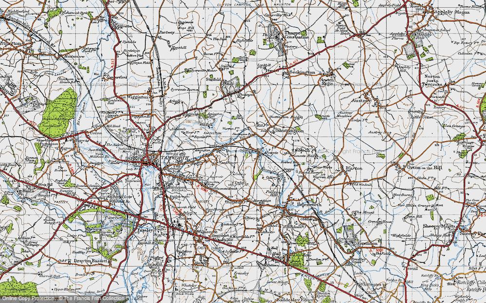 Old Map of Alvecote, 1946 in 1946