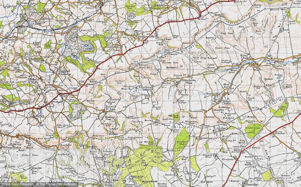 Old Map of Alvediston, 1940 in 1940