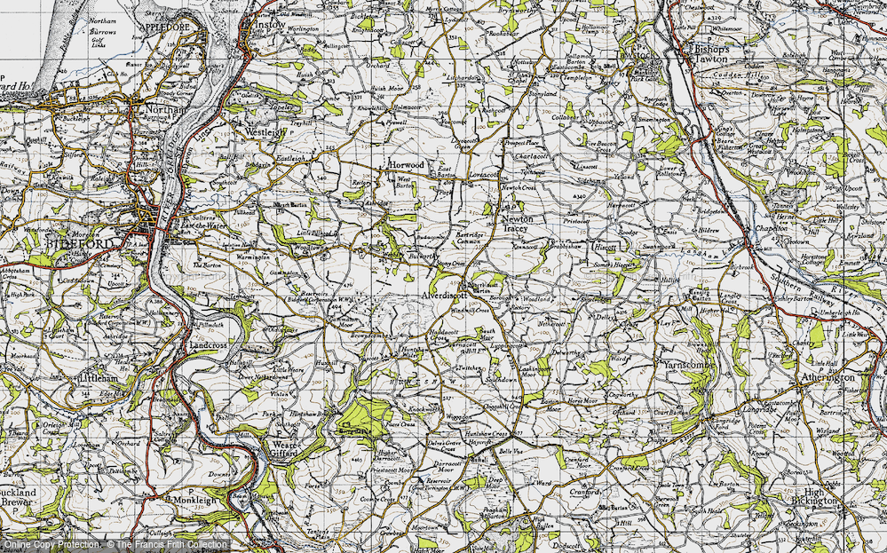Old Map of Alverdiscott, 1946 in 1946