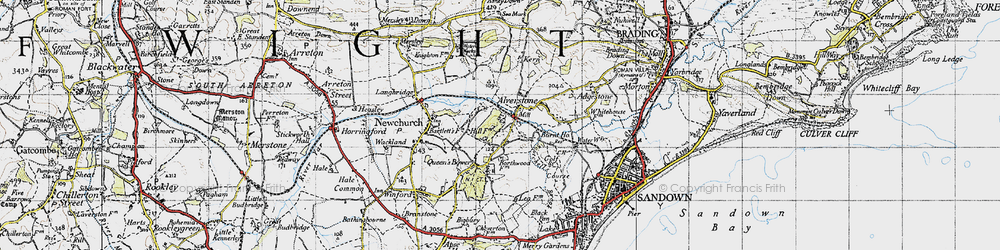 Old map of Alverstone in 1945