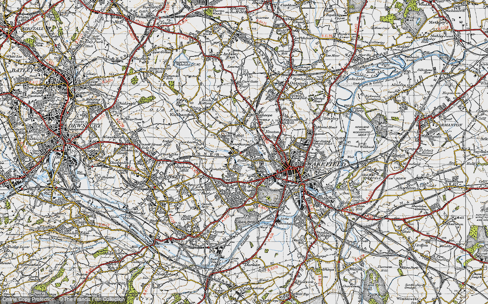 Old Map of Alverthorpe, 1947 in 1947