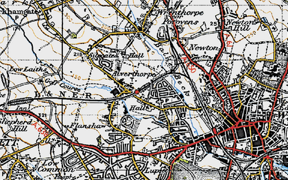 Old map of Alverthorpe in 1947