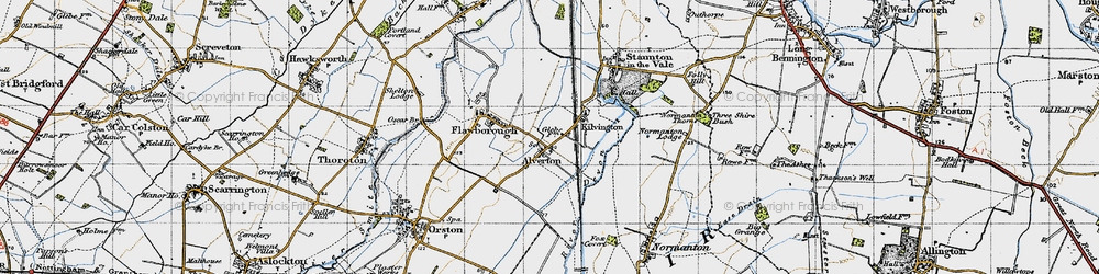 Old map of Alverton in 1946