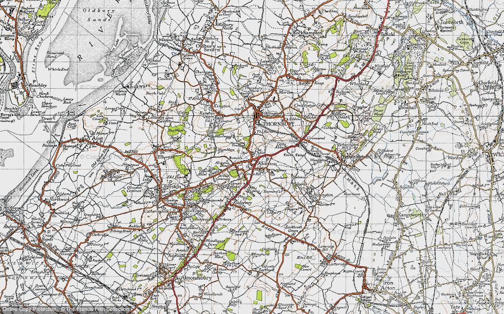 Old Map of Alveston, 1946 in 1946