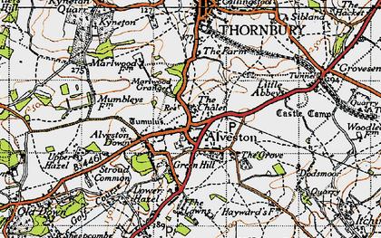 Old map of Alveston in 1946