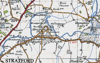 Old map of Alveston in 1947