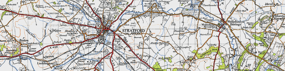 Old map of Alveston Hill in 1947