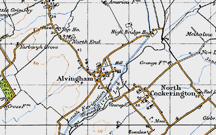 Old map of Alvingham in 1946