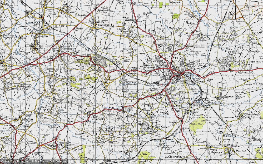 Old Map of Alvington, 1945 in 1945