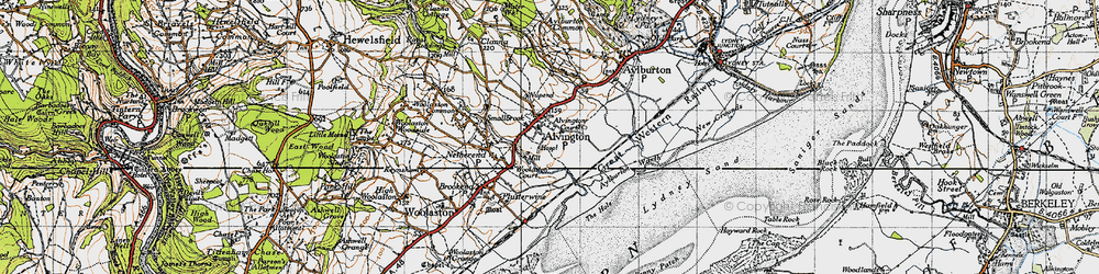 Old map of Alvington in 1946