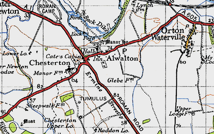 Old map of Alwalton in 1946