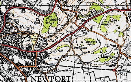Old map of Alway in 1946
